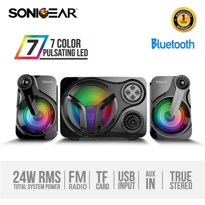 SonicGear Titan 3 BTMI Bluetooth Portable Music Light Display Speaker | computerstore.lk | The largest Brand New Speakers store in sri lanka
