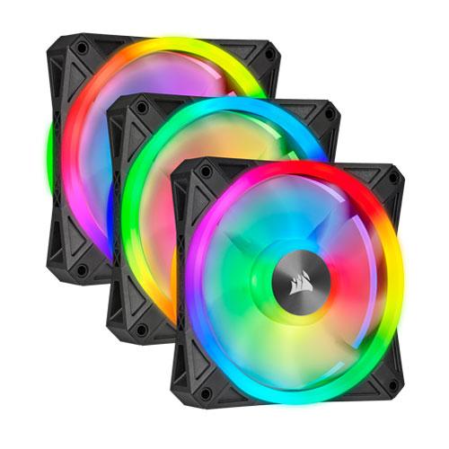 CORSAIR QL120 RGB 120MM PWM TRIPLE FAN KIT WITH LIGHTING NODE CORE | computerstore.lk | The largest Brand New Desktop Accessories store in sri lanka